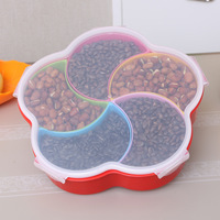 Sealed dried fruit plate lid Doug thickened year candy box dried fruit food box fashion food tray
