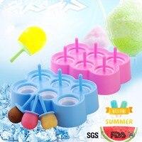 Mini POP Molds Round Red Mini Ice Cream Popsicle Mold 9 Grid