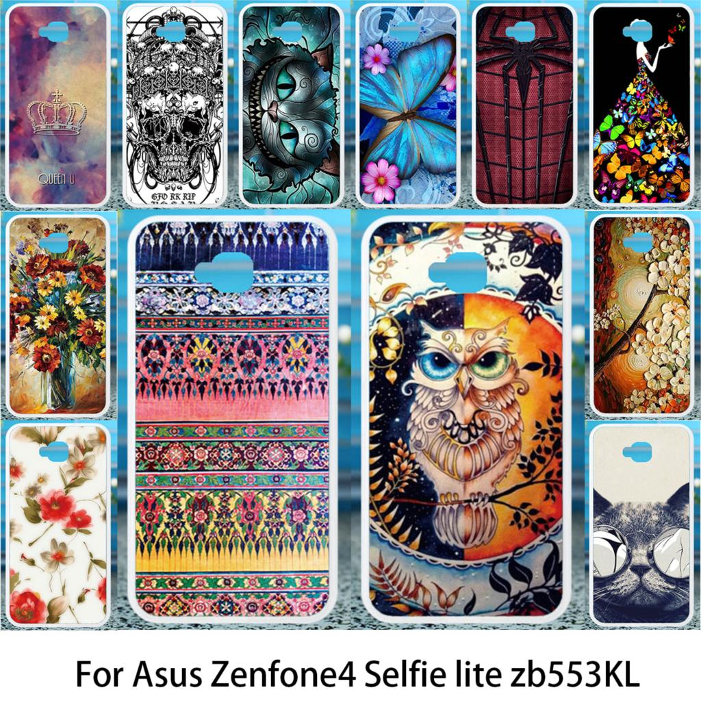 Akabeila Soft Case For Asus Zenfone 4 Selfie Lite ZB553KL Silicon Cases For Asus ZenFone 4 Selfie ZB553KL Anti-knock Cover