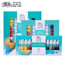 Winsor& Newton Профессиональный акриловых красок комплект 12/18/24 Цвета 10 мл ручная роспись стены рисунок красящий пигмент комплект, принадлежности для живописи