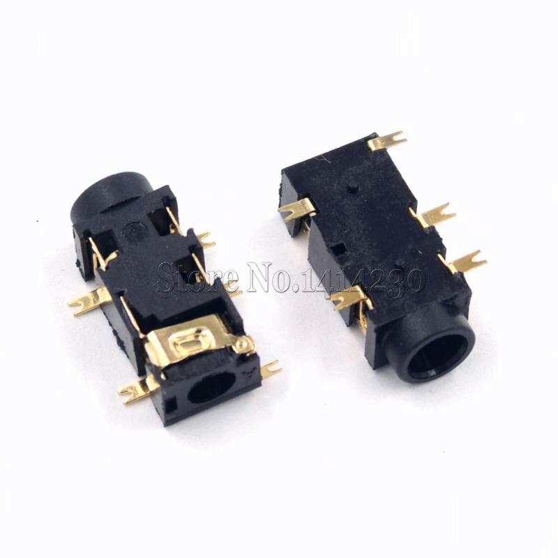 10PCS 3.5MM Headphone PJ-327A Gold-Plated Patch SMD Audio Earphones/Headphone Socket PJ327A