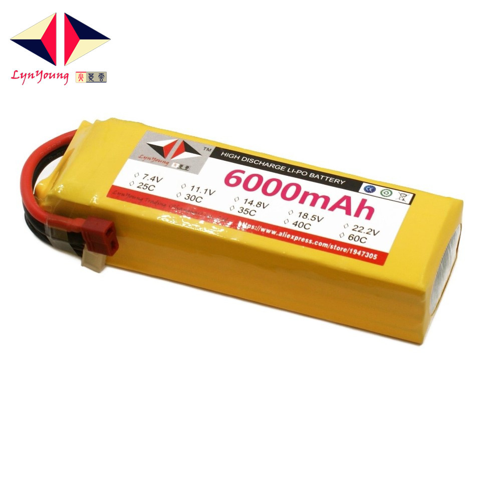 LYNYOUNG Rc 18.5V <font><b>lipo</b></font> battery <font><b>5S</b></font> <font><b>6000mAh</b></font> 40C-80c For Helicopter Car boat Drone quadcopter parts image