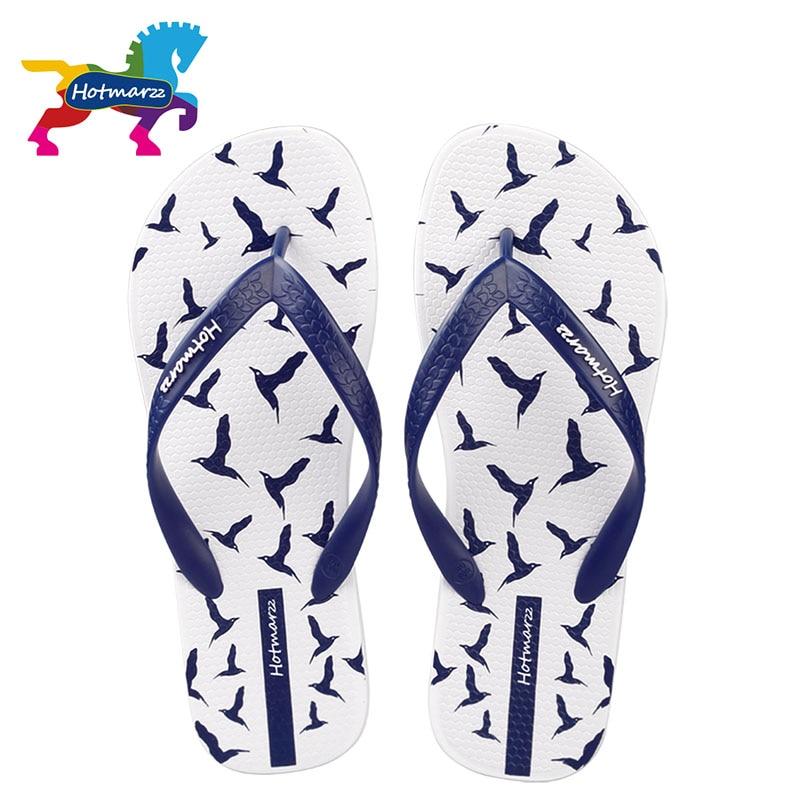 Hotmarzz Férfi Flip Flops Nyári cipők Divatos strand szandálok Sirályok Állati otthon Papucs csúszásgátló zuhanykabin
