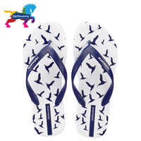 Hotmarzz Men Flip Flops Summer Shoes Fashion Beach Sandals Seagulls Animal Home Slippers Anti-skid Shower Pool Slides