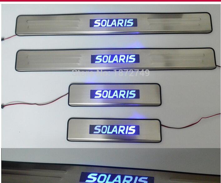 For Hyundai Solaris (Accent) 2010-2014 Door Sill LED Scuff Plate hyundai accent hatchback ii бу москва