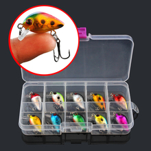 10pcs/box Colorful Mini Minnow Fishing Lure Artificial Hard Bait Plastic Crankbait Peche