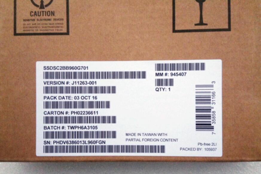Intel 960G SSD S3520 SSDSC2BB960G701