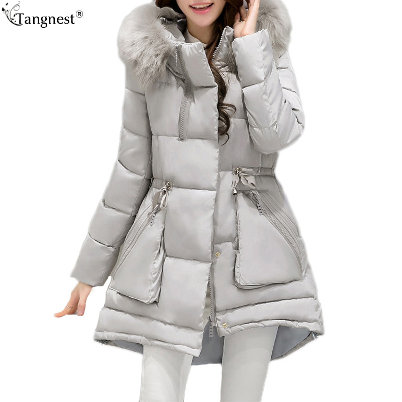 TANGNEST Candy Color Faux Fur Hooded Slim Coat 2017 Fashion Woman Solid Padded Long Jacket Sweet Girl Casual Warm Parkas WWM1567 цены онлайн