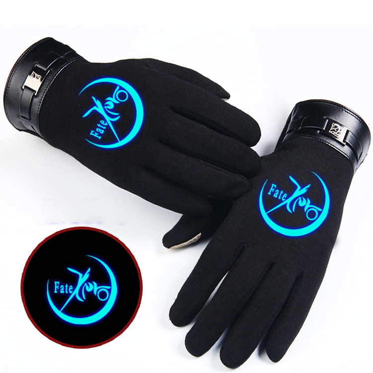 NEW for Anime Fate Zero One Piece SAO Glove Full-fingered Thicken Telefingers Gloves Cosplay Costumes Mittens
