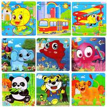 Colorfully Durable Kids Cartoon Fish Wooden Puzzles for Children Kids Toddler Early Educational Jigsaw Toys FJ88