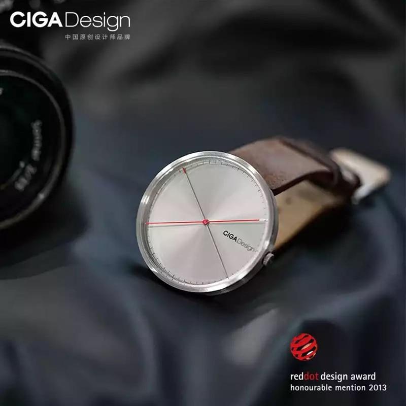 Men's Watch X Series Xiaomi CIGA Design Wristwatch Reddot Winner Watch Fashion Simple Retro Leisure Leather Couple Quartz Clock-in Smart Watches from Consumer Electronics    2