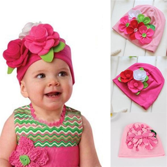 ᗚNueva caliente Niza niños bebé Niñas headwear encantador grande 3D ...