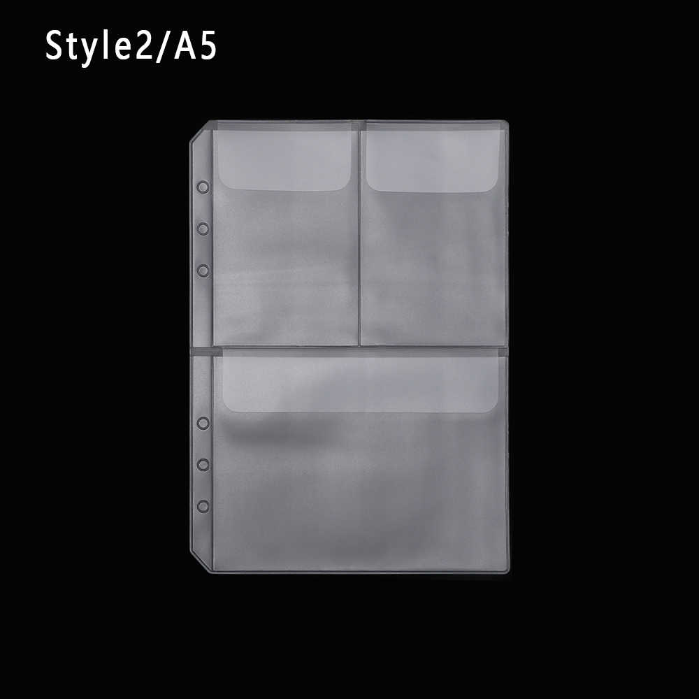 1Pcs A5 Zip Lock PVC Loose-leaf Storage Pouches Bag Document Postcard Template Organizer Clear Resealable Concise Collection Hot