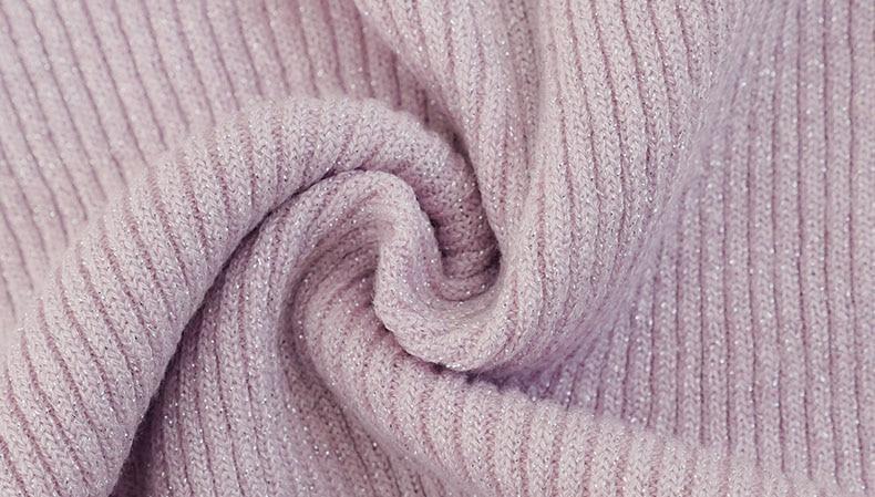 Shiny Lurex Autumn Winter Sweater Women Long Sleeve Pullover Women Basic Sweaters Turtleneck 19 Korean Style Knit Tops Femme 6