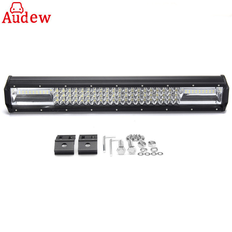 19'' Inch Car  LED Work Light Bar Spot Flood Combo for Off-Road  SUV Boat  day light  Driving Lamp universal spot flood combo 72w led working lights 12v 72w light bar ip67 for tractor truck trailer off roads 4x4 led work light