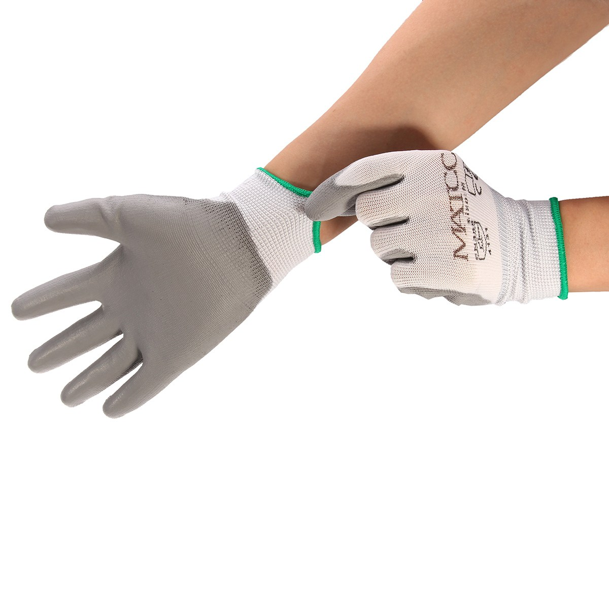 цена на NEW Safurance 12Pairs PU Nitrile Coated Safety Work Gloves Garden Builders Grip Size M/L/XL Workplace Safety Protection