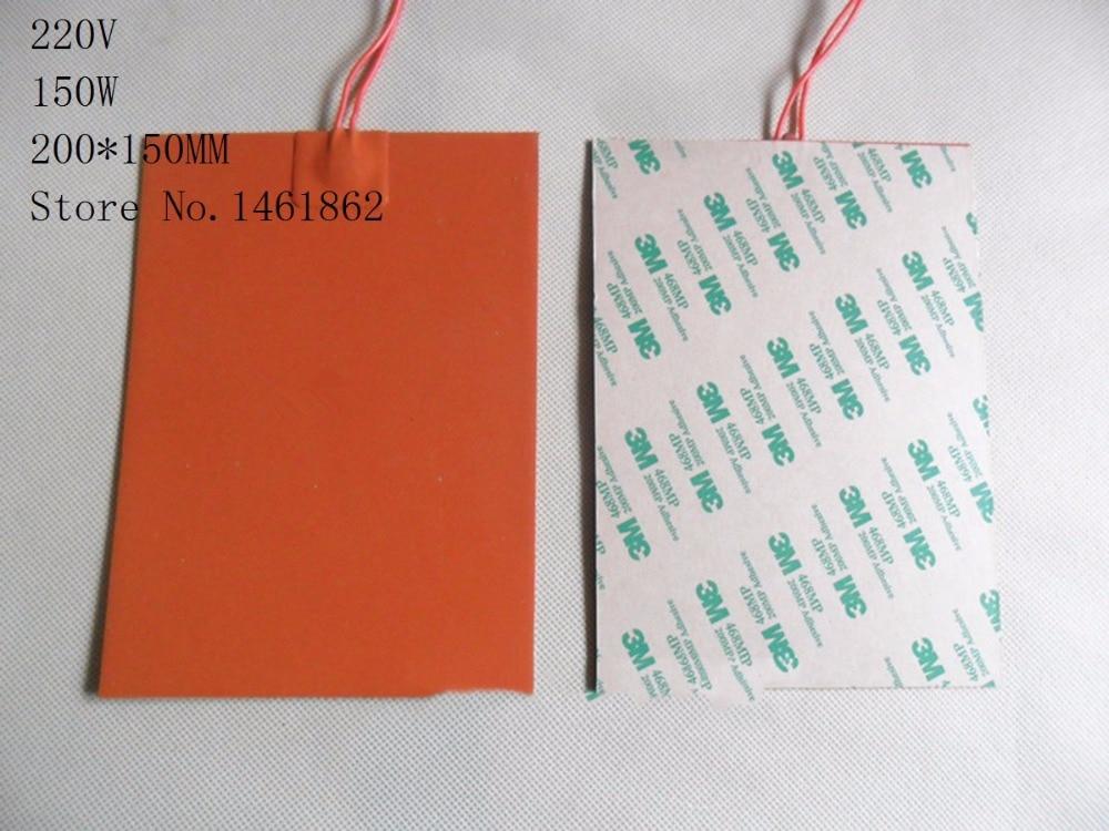 200x150mm 150 W 220 V Silikon Pemanas tikar Elemen Pemanas pelat - Barang-barang rumah tangga