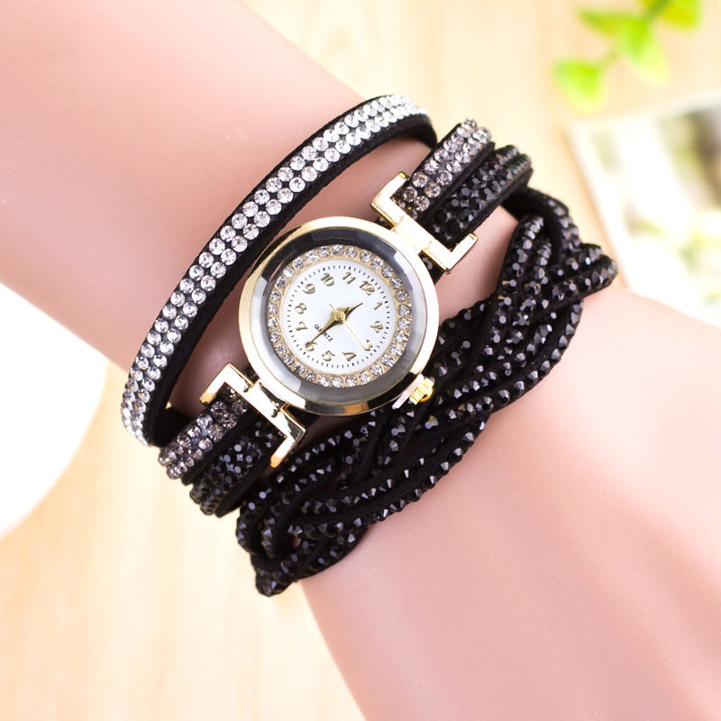 2017 Quartz Watch for Girl Gifts Simple Design Female Watch Fashion Watches Diamond Bracelet Student Watches for Teenagers ZC005 diamond stylish watches for girls