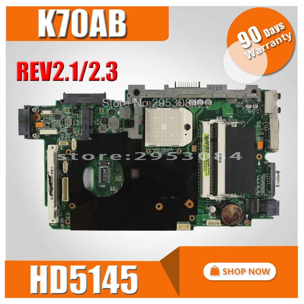 K70AB Motherboard HD5145 512M For ASUS K70 K70AB K70AC K70AF Laptop Motherboard K70AB Mainboard K70AB Motherboard Test 100% Ok