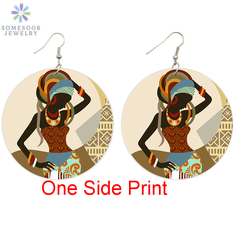 African Lady With Headwrap Earrings Ethnic Jewellery