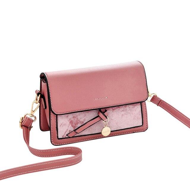 fd9d7219d Bolsos para mujeres 2019 damas bolsos de mano de cuero de la PU bolsos de  hombro mensajero bolso bolsa pequeña bolsa feminina