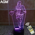 NBA 3D Table lamp 7 Color Touch Changing 3D Light Kobe Bryant 3D LED Novelty 3D Night Lights Decoration Best For Kids Gifts