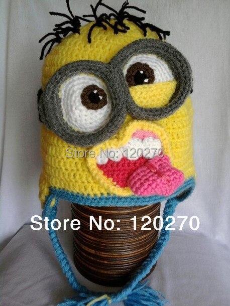 Envío gratis Despicable Me Minion ganchillo patrón de sombrero de ...
