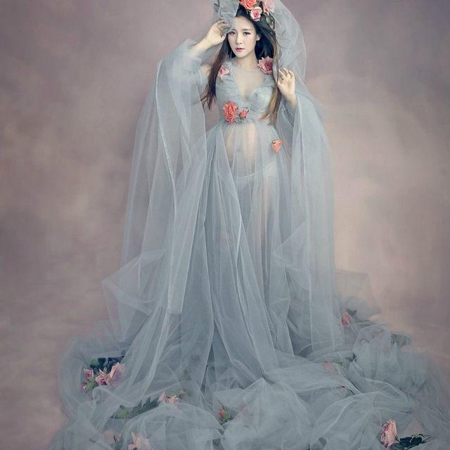 Online Shop Hot 2018 maternity dress wedding party Maxi pregnant ...