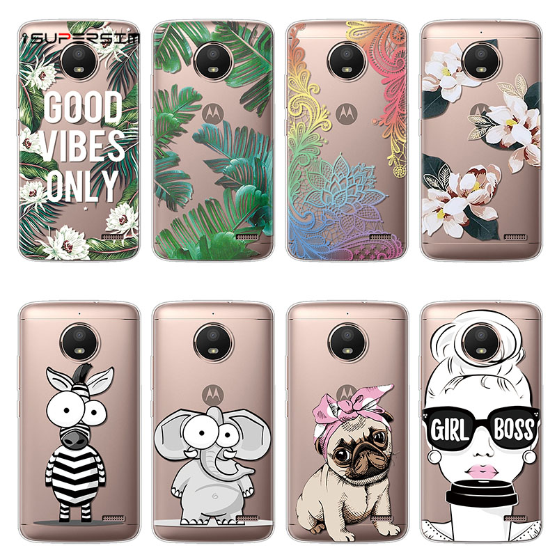 Cartoon Cat Case for <font><b>Motorola</b></font> Moto <font><b>E4</b></font> Case <font><b>XT1762</b></font> Silicone 5.0