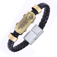 fashion MOSU Hot Animation Detective Conan Alloy Bracelets Case Closed Weave leather bracelet & Bangle cosplay jewelry