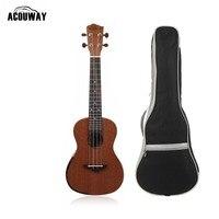 Acouway Ukulele Soprano Concert Ukulele 21 23 inch Sapeli wood uku Ukelele Hawaii guitar Stringed Musical Instrument