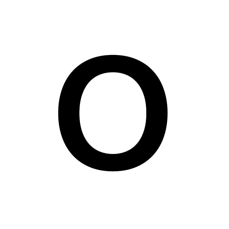 Унисекс, золото, серебро, цвет, A-Z, 26 букв, первоначальное имя, кольца для мужчин и женщин, геометрический сплав, креативные кольца на палец, ювелирные изделия - Цвет основного камня: O