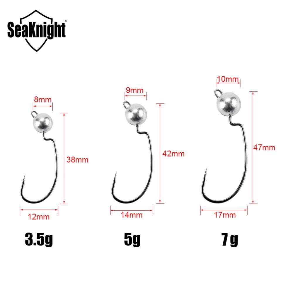 Seaknight الصيد هوك 20 قطع SK03 كرنك الرقصة الرصاص رئيس هوك الكربون الصلب الشائكة هوك الصيد معالجة 3.5 جرام 5 جرام 7 جرام ل لينة دودة إغراء