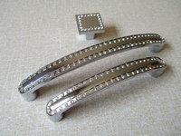 Kitchen Cabinet Door Handle Knob Pulls Silver Clear Glass Crystal Modern Dresser Pulls Drawer Pull Handles