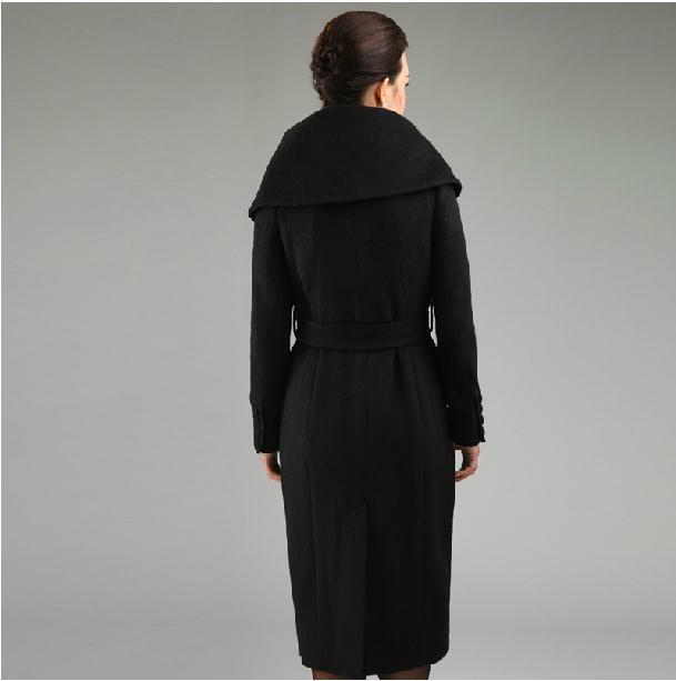 long D'hiver X Mode Dames Femmes Survêtement Cachemire De Black Laine Pardessus Vestes 5wzFq