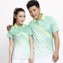Sportswear sweat Quick Dry breathable badminton shirt Women/Men table tennis clothes team game running training POLO T Shirts