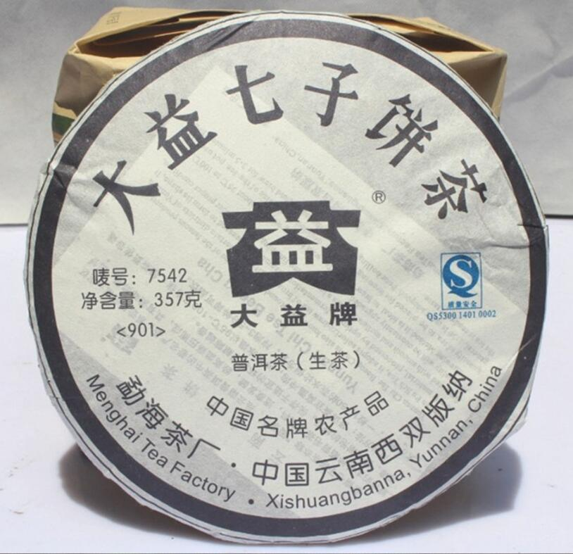 2009 yr Puer tea Pu er Dayi 7542 Chinese Raw Puerh Tea Shen Cake Slimming 357g Tea,Health Green Organic food