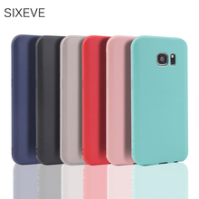 SIXEVE Candy colors Silicone Case For Samsung Galaxy S8 Plus S4 S5 Neo S6 S7 Edge Coque For Samsung Note 8 5 4 3 Cover TPU Capa цена 2017