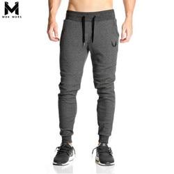 Homens Cheios de algodão Sportswear Calça Casual Elastic Cotton Mens Treino de Fitness Calças Justas Sweatpants Calças Academias Calças Basculador