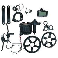 BAFANG Электрический мотор велосипеда 8fun Mid приводной двигатель комплект BBS01 BBS02 36 В 48 В 250 Вт 350 Вт 500 Вт 750 Вт 46 т c961 ЖК дисплей Дисплей