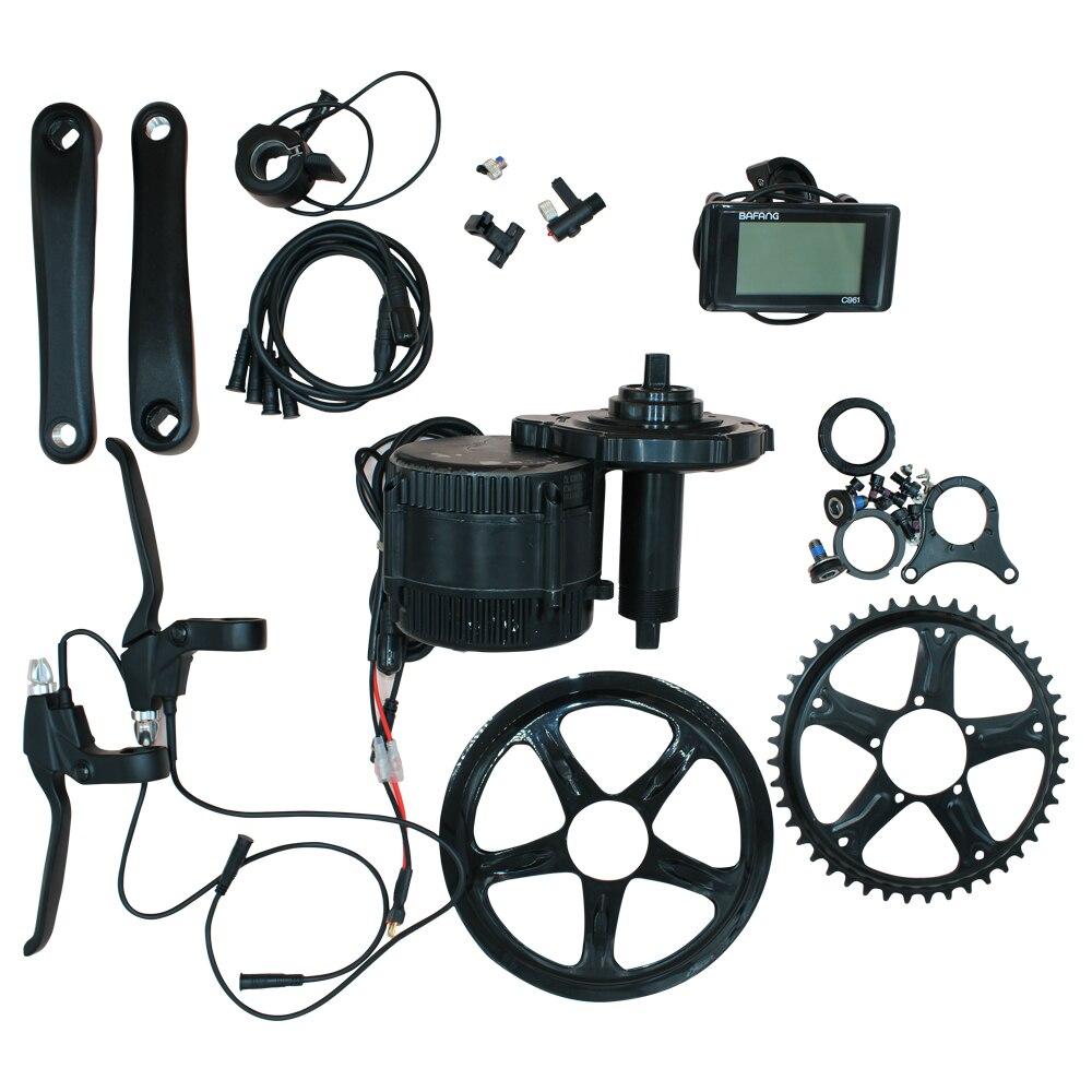 BAFANG электродвигатель для электровелосипеда 8fun Середина привода комплект мотора BBS01 BBS02 36v 48v 250W 350W 500W 750W 46T c961 ЖК дисплей
