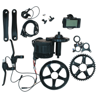 BAFANG Electric Bicycle Motor 8fun Mid Drive Motor Kit BBS01 BBS02 36v 48v 250W 350W 500W 750W 46T c961 LCD Display