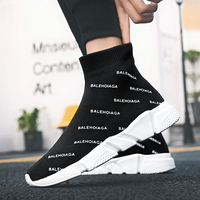 Women high top sneakers Men's summer shoes breathable hot sale fashion 2019 shoes for male sports sock tenis footwear
