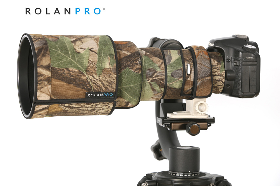 ROLANPRO Lens Camouflage Coat Rain Cover for Canon EF 400mm f/4 DO IS USM lens SLR Gun Case Lens Protective Sleeve Outdoor Cover