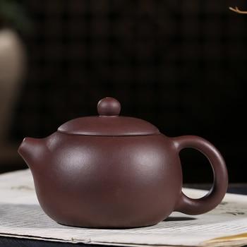 200ML Yixing Authentic Purple Clay Teapot Raw Ore Purple Mud Xishi Pot Chinese Kung Fu Tea Set Pu'er Tea Kettle Birthday Gifts