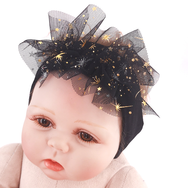 2019 Princess Headbands For Newborn Baby Girls Childs Toddler Soft Star Cotton Stretch Turban Hair Bands Accessories New Born