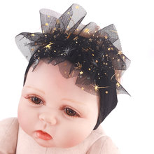 2019 Princess Headbands For Newborn baby Girls Childs Toddler Soft Star Cotton Stretch Turban Hair bands Accessories New born(China)