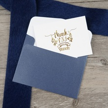 multi-use 25pcs Mini thank you Card gold with dark blue envelope Scrapbooking party invitation greeting cards business card 25pcs mini thank you card gold with blue envelope leave message cards lucky love valentine christmas party invitation letter
