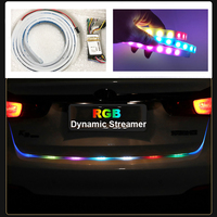 Car Styling RGB Undercarriage Floating Led Dynamic Streamer Turn Signal Tail LED Strip Warning Lights Luggage
