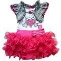 Boa qualidade verão olá Kitty vestido meninas TUTU vestido crianças moda crianças roupas